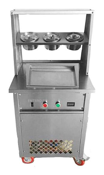 Фризер для жареного мороженого Foodatlas KCB-1F (контейнеры, стол для топпингов)