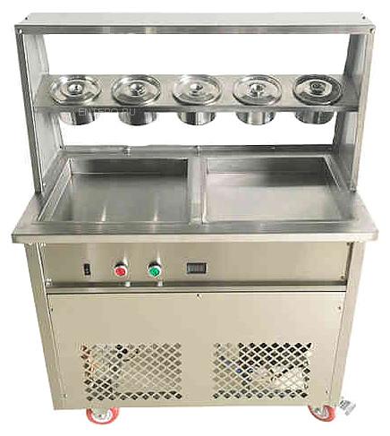 Фризер для жареного мороженого Foodatlas KCB-2F (контейнеры, стол для топпингов)