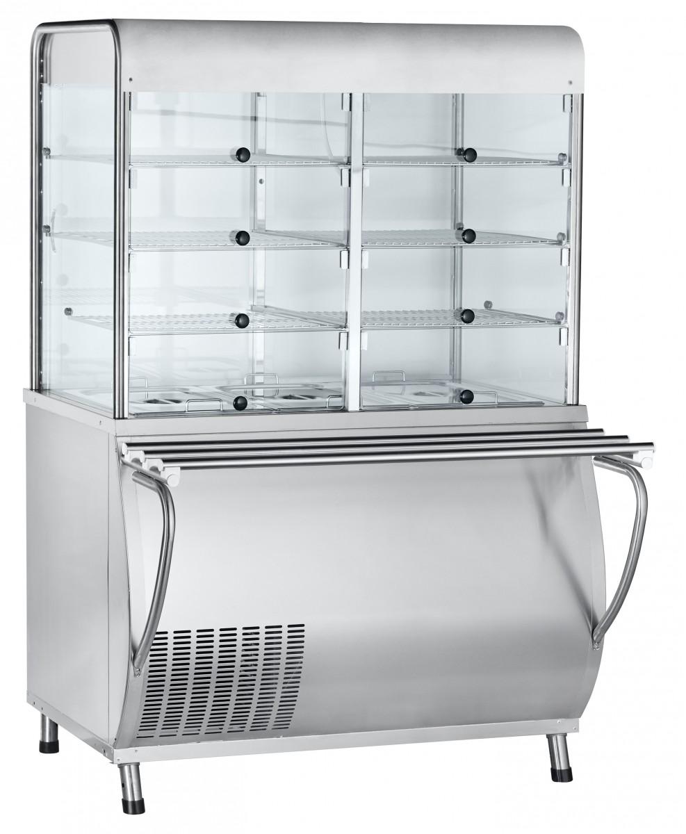 Прилавок-витрина холодильный Abat ПВВ(Н)-70М-С-01-НШ