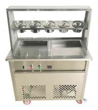 Фризер для жареного мороженого Foodatlas KCB-2F (контейнеры, световой короб, 2 компрессора)