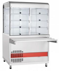 Прилавок-витрина холодильный Abat ПВВ(Н)-70КМ-С -НШ