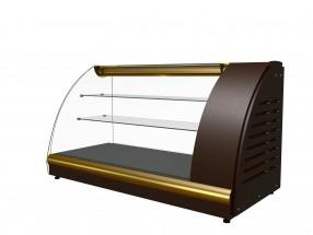 Витрина среднетемпературная Полюс А57 VM 1,2-1 0012-1036 (ВХС-1,2 Арго XL Люкс) коричн-золот