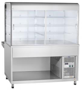 Прилавок-витрина холодильный Abat ПВВ(Н)-70 КМ-С-01-НШ