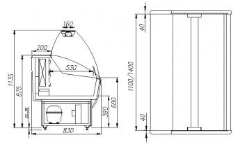 Витрина морозильная Полюс G85 SL 1,2-1 (ВХСн-1,2 Полюс ЭКО)