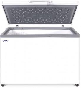 Ларь морозильный  СНЕЖ МЛК-400 (серый)