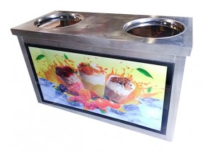 Фризер для жареного мороженого Foodatlas KCB-2Y (стол для топпингов, система контроля температуры)