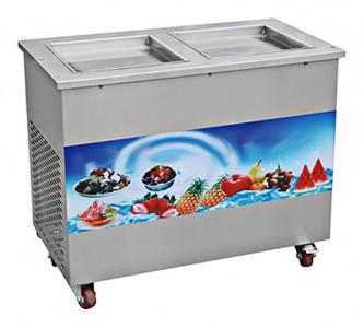 Фризер для жареного мороженого Foodatlas KCB-2F (стол для топпингов, 2 компрессора)