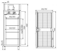 Шкаф среднетемпературный Полюс R1400 Сarboma