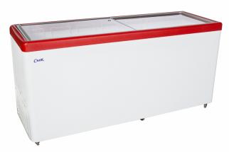 Ларь морозильный СНЕЖ МЛП-700 (красный)